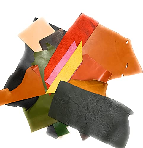 [okuda-belt] ハギレ カットレザー 牛革 皮革 アソートパック ヌメ革 栃木レザー レザークラフト用