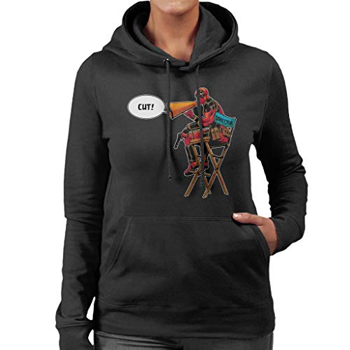 Marvel Deadpool Director Shouting Cut Women's Hooded Sweatshirt