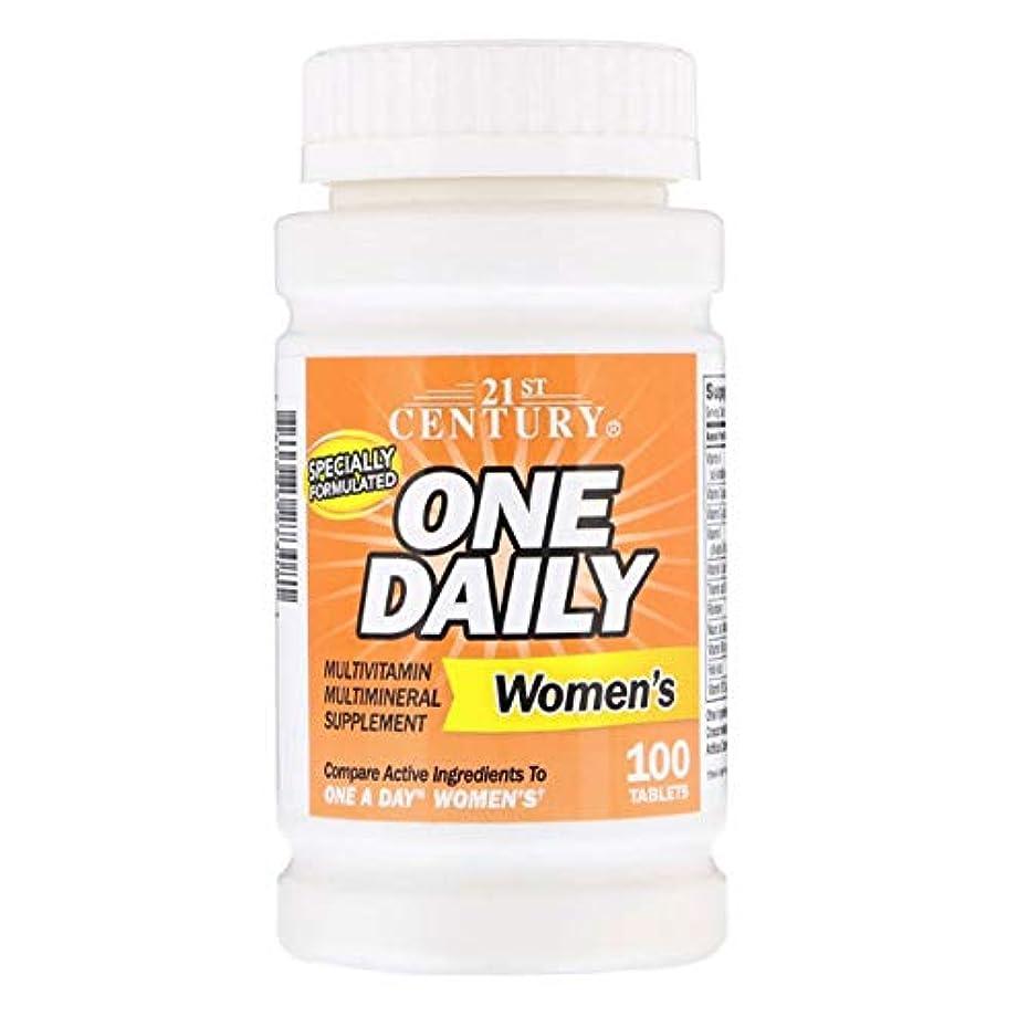 エッセンス加入ねじれ21st Century One Daily Women 's Multi Vitamin 100 Tablets 【アメリカ直送】