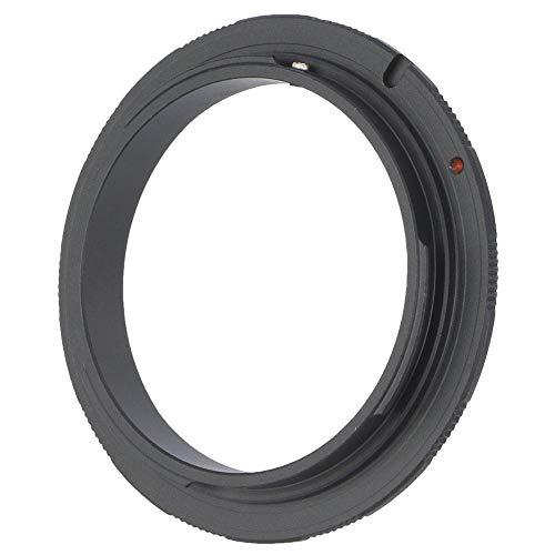 Inversor Adaptador Anillo,Lente de Enfoque Medio de Aleación de Aluminio en Lente Macro Apertura Manual/Disparo Macro Focalizado Anillo Adaptador Inverso para la Cámara DSLR Canon EOS Mount(EOS-58mm)