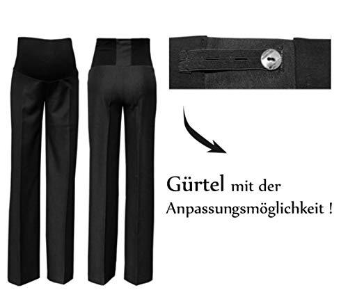 MijaCulture Pantaloni Premaman Classici ed Eleganti, Formal Smart 1011A (S, Nero/Interno Gamba 85cm)