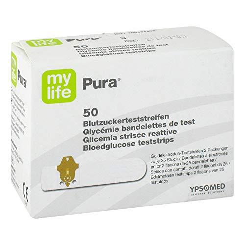 MYLIFE Pura Blutzucker Teststreifen 50 St Teststreifen