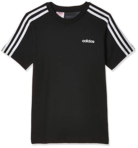 adidas Youth Boys Essentials 3 Stripes T-Shirt, T-Shirts Bambino, Black/White, 11-12A