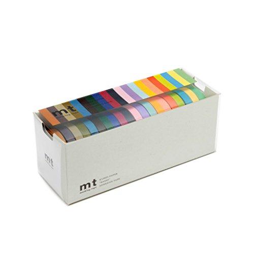 MT Masking Tape MT20C - Pack de 20 rollos finos de cinta adhesiva, 10 m