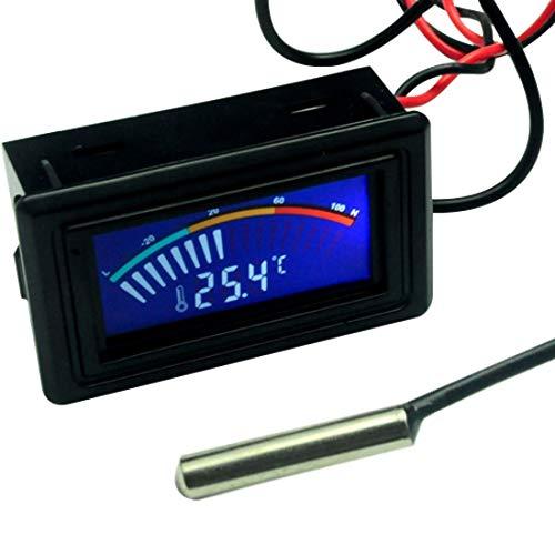 Thermomètre Digital LCD Thermometer, mesure de la température de l'eau de voiture Jauge C/F pour boîtier d'ordinateur