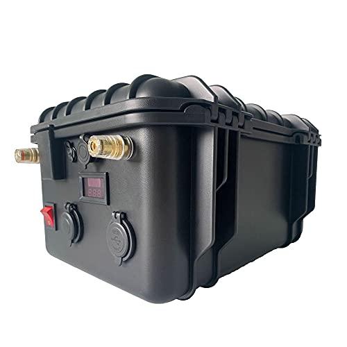 Batería LiFePO4 12V 100Ah 200Ah 300Ah 400Ah Batería de Litio Recargable, batería de Ciclo Profundo y protección BMS, con Cargador, autocaravanas, Marina, Paneles solares-12v 200ah