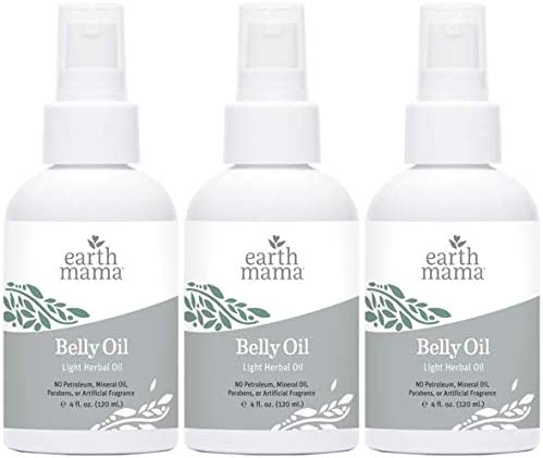 Belly Oil by Earth Mama | To Safely Moisturize and Promote Skin's Natural Elasticity During Pregnancy and to Ease the...