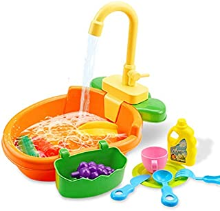 JVSISM Automatic Bath Tub with Faucet Fountains SPA Pool Shower Multifunctional Toy Cleaning Tool C