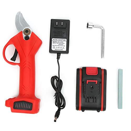 IGKE Tijeras de podar, Tijeras de podar eléctricas inalámbricas, cortadora de Rama con Interruptor de Seguridad, para el hogar(One Battery and One Charge)