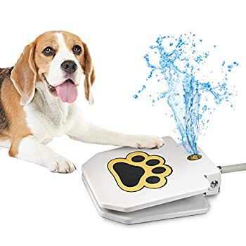 Videosystem Dog Fountain Dog Sprinkler Outdoor Dog Drinking Water Step On,Easy Paw Activated Drinking,Fresh Water,Sturdy,Easy to Use,Providing Constant Stream,Y Splitter Included