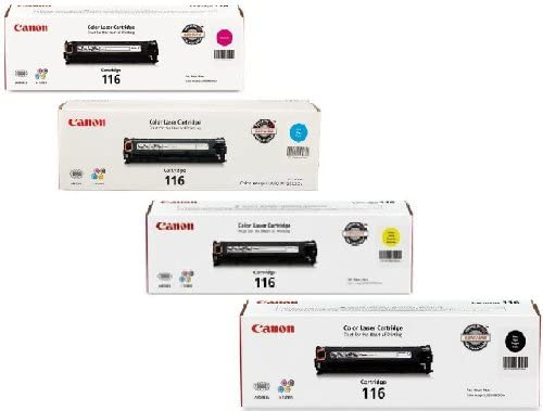 Canon 116 Combo Pack Of 4 Color Toners Manufactured By Canon (1 of BK, C, Y, M) for ImageClass MF8050cn