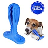 QPQEQTQ Upgraded Dog Toothbrush Chew Toys - Dog Teeth Cleaning Stick - Puppy Dental Care Brushing Toy - Natural Rubber Bite Resistant Dog Toothbrush Toy (Medium, Blue)