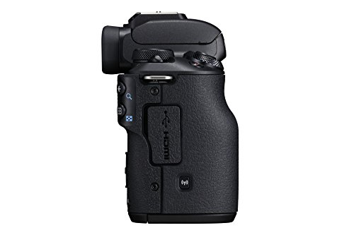 Canon EOS M50 Systemkamera spiegellos Gehäuse Body (24,1 MP, dreh- und schwenkbares 7,5 cm (3 Zoll) Touchscreen LCD, Display, APS-C CMOS-Sensor, Digic 8, 4K Video, OLED EVF, WLAN, Bluetooth), schwarz