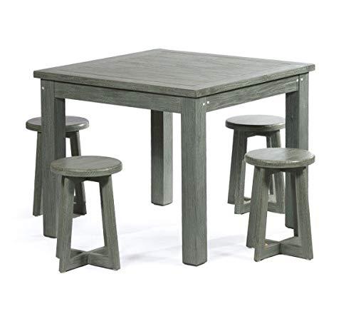 Salon intérieur 4 Places en Teck Massif Table carrée 90 cm