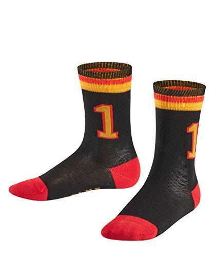 FALKE Kinder Socken Worldcup, Baumwollmischung, 1 Paar, Schwarz (Black 3000), Größe: 27-30