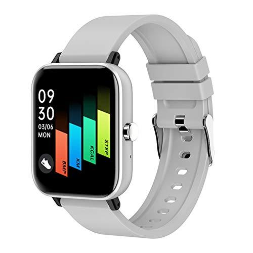 BNMY Smartwatch Fitness Armbanduhr Mit Bluetooth Telefonie Blutdruck Messgeräte Pulsoximeter Schrittzähler Pulsuhr Fitness Tracker Wasserdicht Fitness Uhr Smartwatch Damen Herren Ios Android,Grau