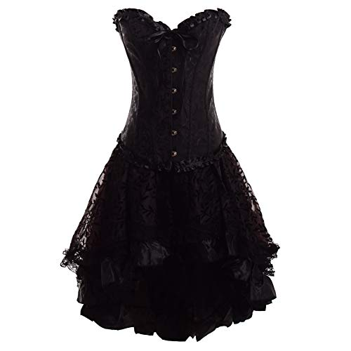 GRACEART Damen Gothic Röcke Spitzen Steampunk Korsett Kleid Cosplay Kostüm (Medium)