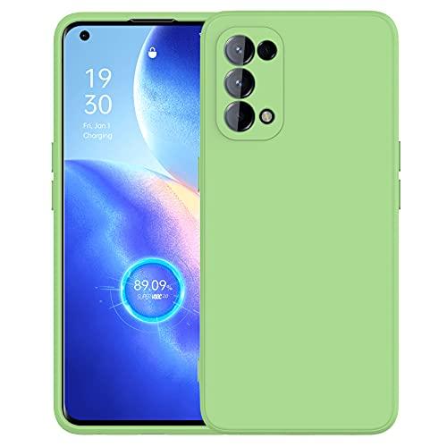 Cresee kompatibel mit Oppo Find X3 Lite 5G Hülle Hülle, Silikon Handyhülle mit [Kamera Schutz] [Faser-Innenraum] Anti-Scratch Dünn Schutzhülle Stoßfest Cover für Find X3 Lite, Grün