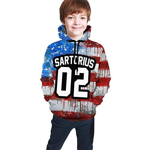 dgfgad Kapuzenpulli Kids Hoodie Ja-cob SAR-torius 02 Logo Youth Sweatshirt 3D Print Pullover Long Sleeve Hooded for Boys Girls
