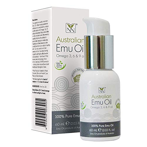 Pure Australian Emu Oil 60ml (2oz), (Omega 369 oil), Powerful Anti-inflammatory Properties, Manufacturered to TGA, HACCP and GMP certified,made in Australia. Powerful acting food supplement for the skin