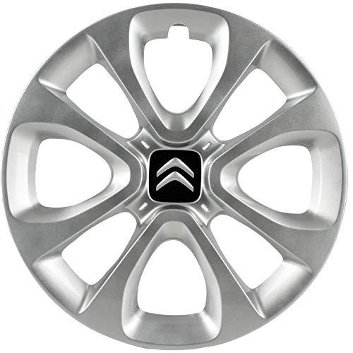Citroen 98138694TW Mont Blanc - 1 x embellecedor de rueda Tapacubo, 15'
