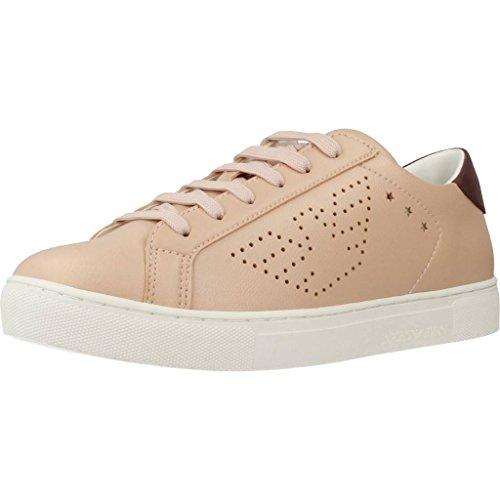 Emporio Armani Logo Court Damen Sneaker Hell
