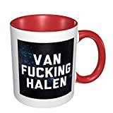 Snanna Van Fucking Halen Personalized Double Color Coffee Mug Tea Cup Novelty Gift Present White Ceramic For Christmas Thanksgiving Festival