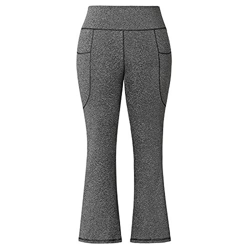 Honwenle Women's Plus Size Bootcut Yoga Pants Bootleg High Waisted Flare Workout Pants with Pockets XL-5XL
