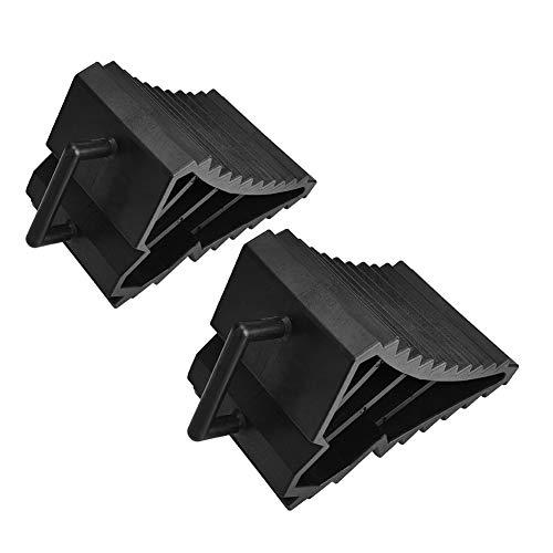 SALALIS Par de calzos para Ruedas, calzos Negros para Ruedas de automóvil universales para camión para Reparar vehículos