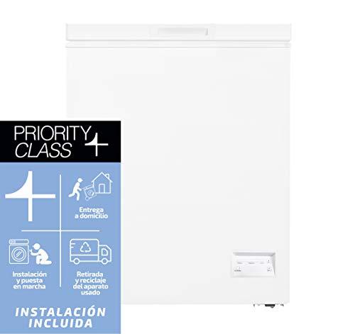 Sauber - Congelador Horizontal SCHD-100 - Función DUAL - Eficiencia energética: A+ - Ancho: 54,5 cm - 100 litros - Color Blanco