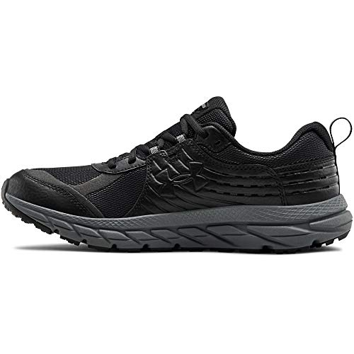 Under Armour Men's Charged Toccoa 2 Running Shoe, Black (001)/Pitch Gray, 12