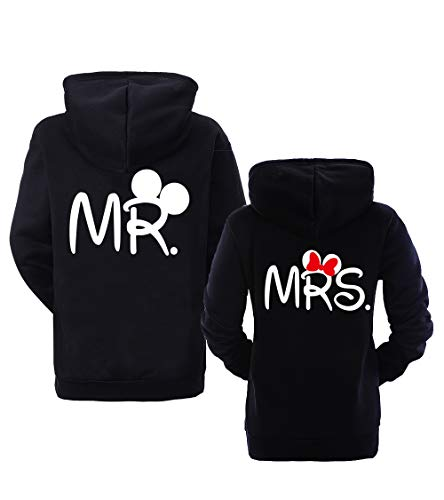 Couple Partner Hoodie Pullover Mr Mister Mrs Misses für 2