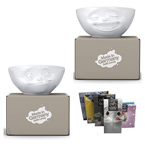 Fiftyeight Schalen 2er Set + Servietten Products, NEUHEIT 350 ml, LACHEND+LECKER