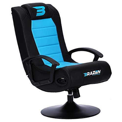 BraZen 17990 Stag 2.1 Bluetooth Surround Sound Gaming Chair - Blue/Black
