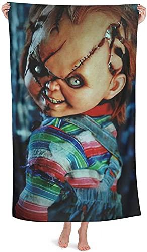 Toalla de playa Chucky con impresión 3D, la mejor elección para temas de terror, Halloween (Chucky3, 70 cm x 140 cm)