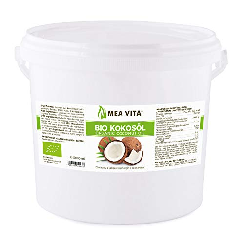 MeaVita Bio Kokosöl, nativ, 1er Pack (1 x 5L) im Eimer