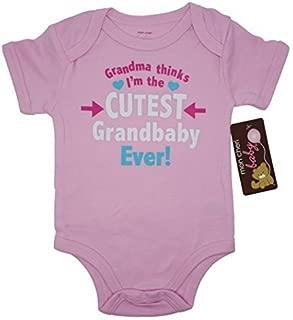 Mon Cheri Baby Cutest Grandbaby Ever Funny Baby Girl Boy Unisex Infant Funny Bodysuits.
