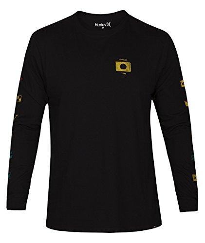 Hurley AJ1754 Men's Premium Seaworthy Tee Long Sleeve, Black - Large