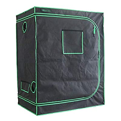"""Green Hut Indoor Grow Tent 48""""X24""""X60"""" 600D Mylar Hydroponic Grow Tent for Indoor Plant Roof Cube Tent with Observation Window and Removable Floor Tray"""