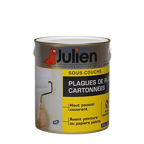 Sous-couche JULIEN pour plaques de plâtre cartonnées - Blanc Mat 2,5L