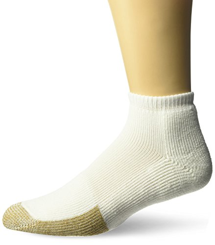 Thorlos Unisex TMM Tennis Thick Padded Low Cut Sock, White, Large