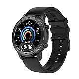 Toque Completo Smart Watch Ladies IP68 Impermeable Bluetooth Pulsera Bluetooth Pulsera ECG Cardation Tasas Monitor Monitoreo De Sueño Deportes Smartwatch para iOS Android,B