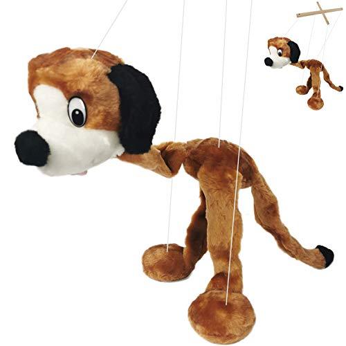 My-goodbuy24 Marionette Puppe - Hund - 60cm mit Schnur für Marionettentheater Handpuppe - Plüsch (60cm Hund)