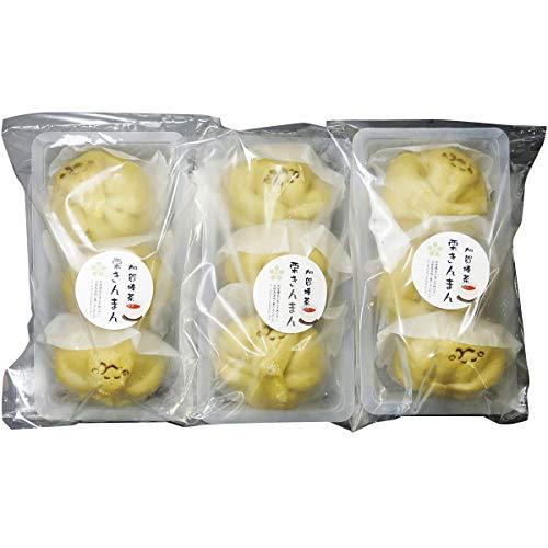 錢福屋 加賀棒茶の栗きんまん 3個×3 中華まん 中華菓子 和菓子 冷凍 惣菜 スイーツ 石川