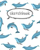 Sketch Book: Cute dolphin Sketchbook for Kids,Girls,Boy,Journal Sketchpad 120 + Pages of Size 7.5 x 9.25 extra large Blank Paper for Drawing,Doodling or ... For Kids (Sketchbook for Girls)