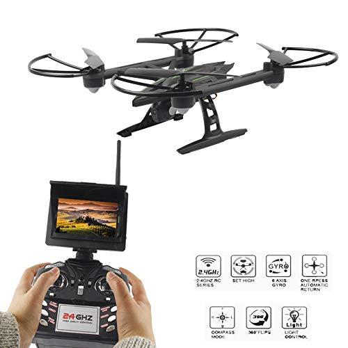 Drone, 5.8 G FPV con 2.0 MP cámara de vigilancia HD RC Drone Remoto,/3D Flip/Modo sin Cabeza/un botón de Retorno/Altura Hold