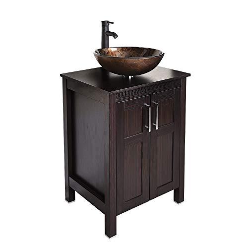 24 inch Bathroom Vanity Set - Combo MDF Sink Cabinet Vanity with Counter Top...