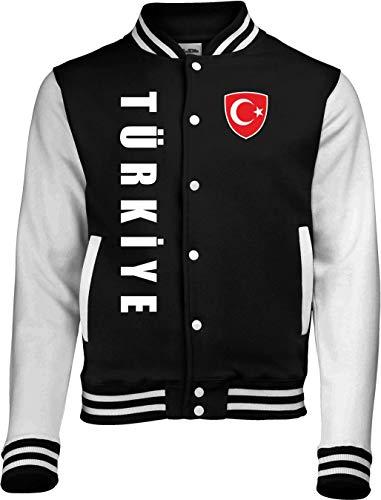 Aprom-Sports Türkei College Jacke - EM WM Sweat Sport Trikot SC Look (XXL)