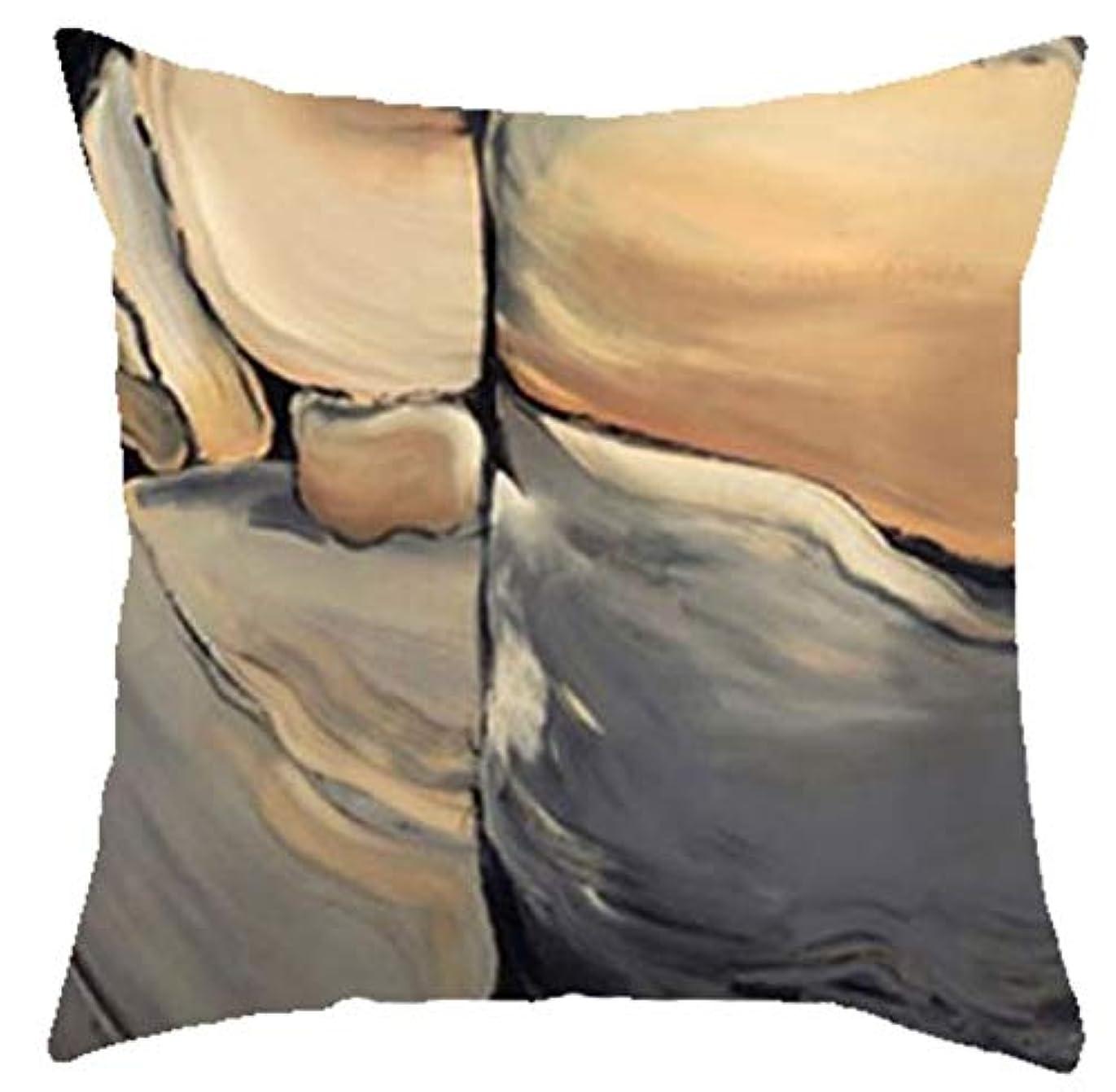 サロン上下する相対的LIFE 新入荷幾何学模様スロー枕クリエイティブ抽象大理石クッション手塗りの山の森リビングルームのソファ クッション 椅子