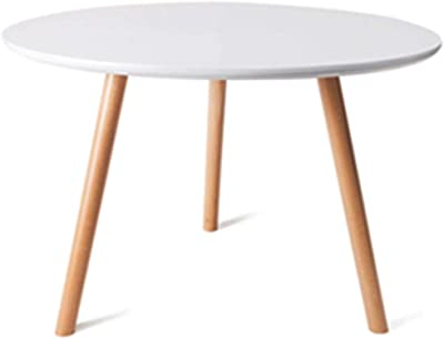 Tables Coffee Table Living Room Mini Tea Table Balcony Small Table Simple Side Table, Bed Table (Color : White, Size : 40 * 40cm)
